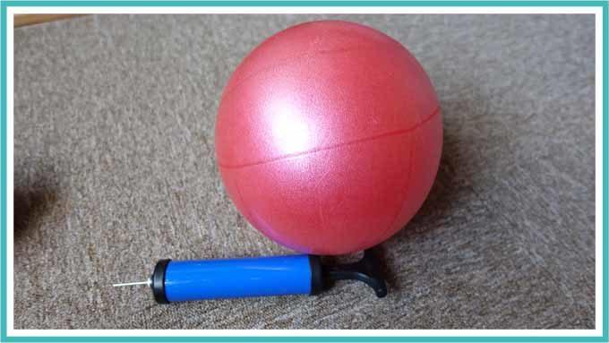 空気入れ完了後のボール